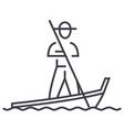 gondolavenice line icon sign vector image vector image