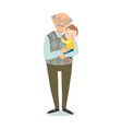 grandfather with grandson family photo vector image vector image