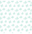 green plant pattern vector image vector image