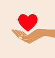 hand giving love symbol vector image vector image