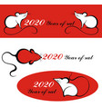 happy chinese new year 2020 year rat chin vector image vector image