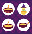 happy diwali festival lights festival celebration vector image vector image
