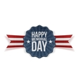 Happy Memorial Day greeting Banner vector image vector image