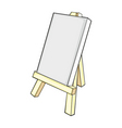 isolated easel vector image