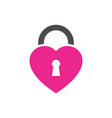 lock love logo icon vector image