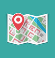 map with pin vector image vector image