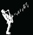 Musician playing the saxophone vector image