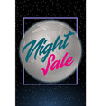 night sale dark banner sale poster with fool moon vector image vector image
