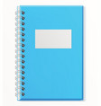 notebook closed copybook with empty cover vector image