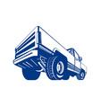 Pickup Truck Rear Retro vector image vector image