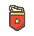 red soviet pennant icon cartoon vector image