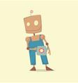 robot gardener funny cartoon vector image vector image