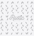 rustic leaves hand drawn background vector image vector image