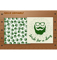 Saint Patricks Day card on wooden table vector image