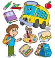 school objects collection vector image