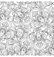 Seamless Monochrome Ornate Pattern for vector image vector image