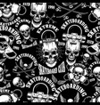seamless pattern with skateboard emblems in vector image vector image