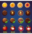 set buttons with views press vector image