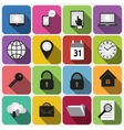 Set of Flat Square Buttons with Round Corners vector image