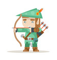 sharpshooter archer bow arrow elf fantasy medieval vector image