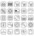 Shopping contour icons vector image vector image