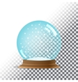 Snow globe Transparent background vector image vector image