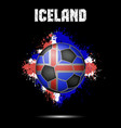 soccer ball in the color of iceland vector image vector image