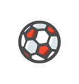 soccer ball simple icon cartoon vector image
