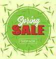 spring sale banner template for social media vector image
