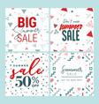 summer sale set of website sale banner templates vector image