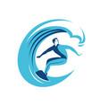 surfing symbol surf emblem vector image