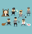 thief robber and judge crime or punishment vector image