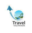 travel logo icon for business travel agency design vector image