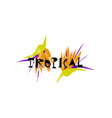 tropical cartoon jungle vector image vector image