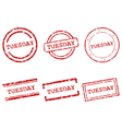 Tuesday stamps vector image vector image