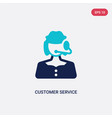 two color customer service icon from concept vector image