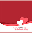 two hearts in papercut style valentines day vector image vector image