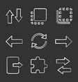 uiux chalk icons set vector image