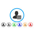 user schedule rounded icon vector image vector image