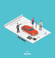 vehicle rental flat isometric concept vector image vector image