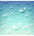 Water Drops on a Blue Background vector image vector image