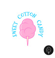 Sweet cotton candy Simple cartoon linear st vector image