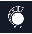 Volume Control Isolated on Black Background vector image