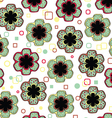 Abstract Flowers Endless Seamless Pattern vector image vector image