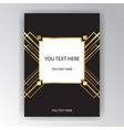 Art deco poster page template metallic background