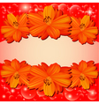 background with red flowers vector image vector image