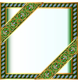 backgrounds frame with jewels and geometric design vector image vector image