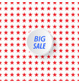 banner big sale in the background of stars vector image vector image