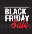 black friday discount background vector image vector image