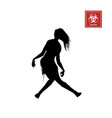 black silhouette of women zombie vector image vector image